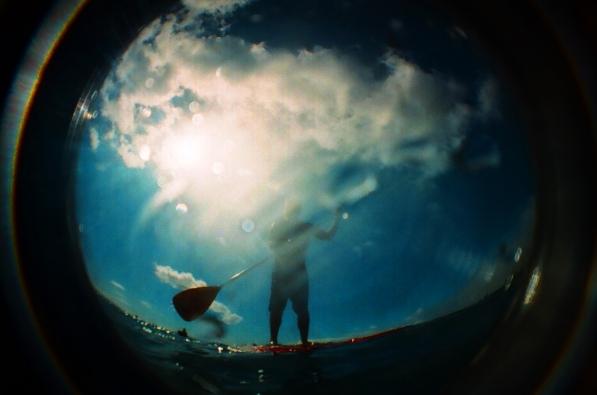 stand up paddle. lahaina, hawaii.