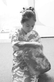 obon dancer. lahaina hongwanji obon festival. maui, hawaii.