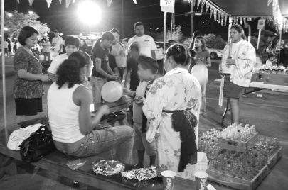 obon games. lahaina hongwanji obon festival. maui, hawaii.