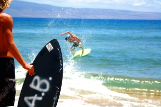 skim. kaanapali, hawaii.