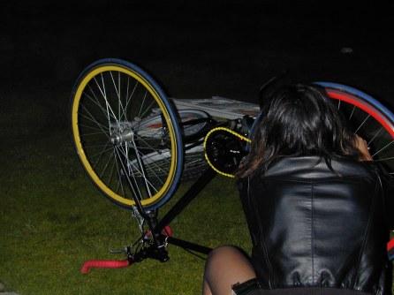 fixie biker. FMLY bike ride. venice, california.