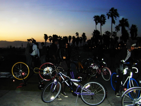 FMLY bike ride. venice, california.